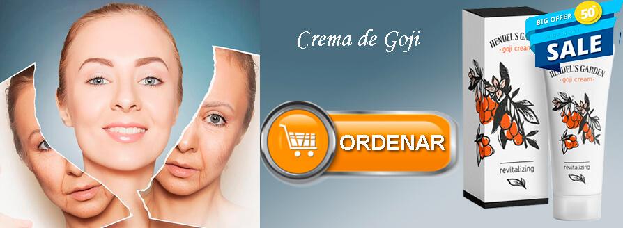 ordenar Goji cream Spanish